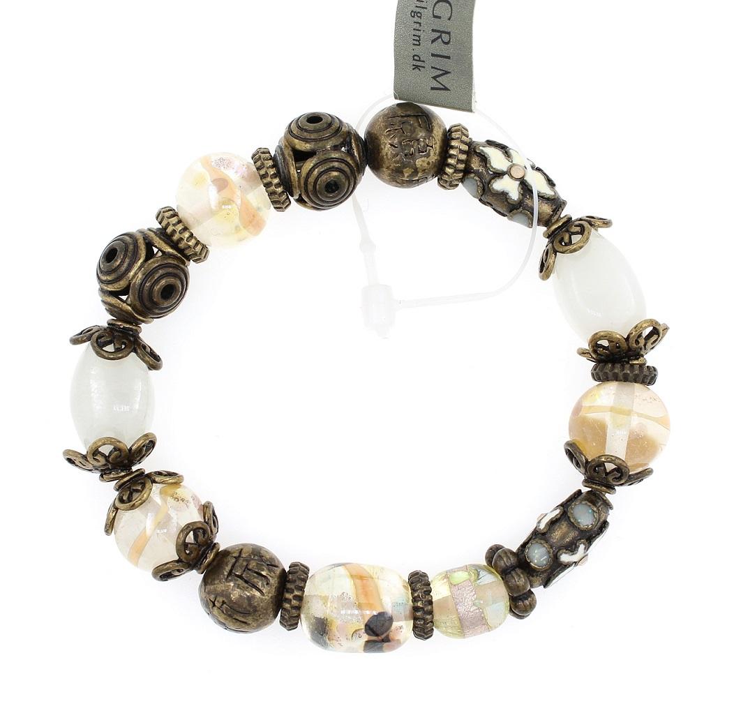 PILGRIM - STARS - Stretch Bracelet - Gold Plate/White Opal Swarovski BNWT