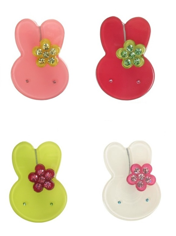 BIG BABY Little Rabbit With Flower Brooch/Pin
