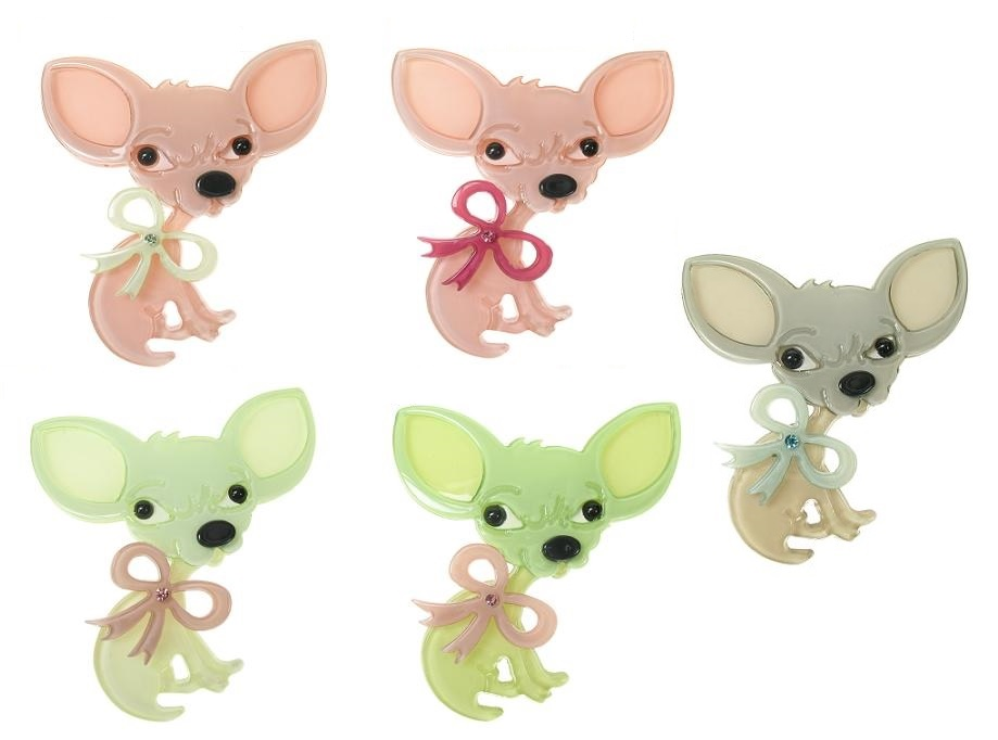 BIG BABY Small Chihuahua Chiwawa Dog Brooch/Pin