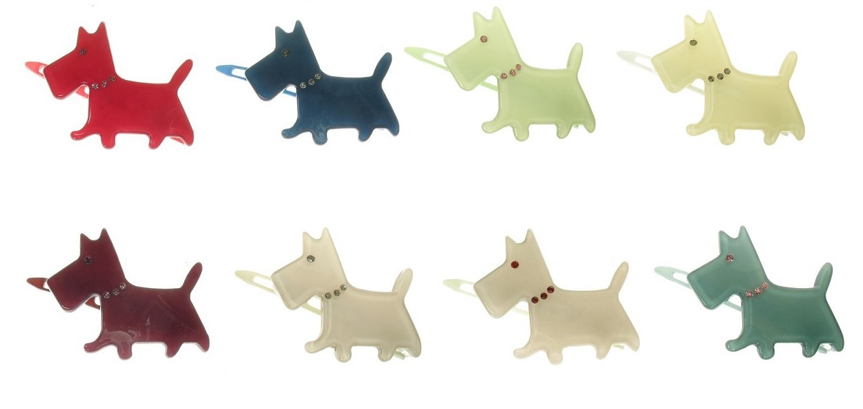 BIG BABY Scottie Dog Hair Slide/Clip