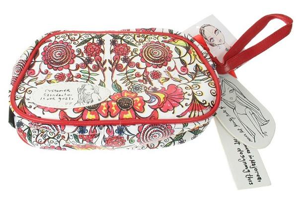 Psychedelic Flower Bobbypin Make-Up Bag