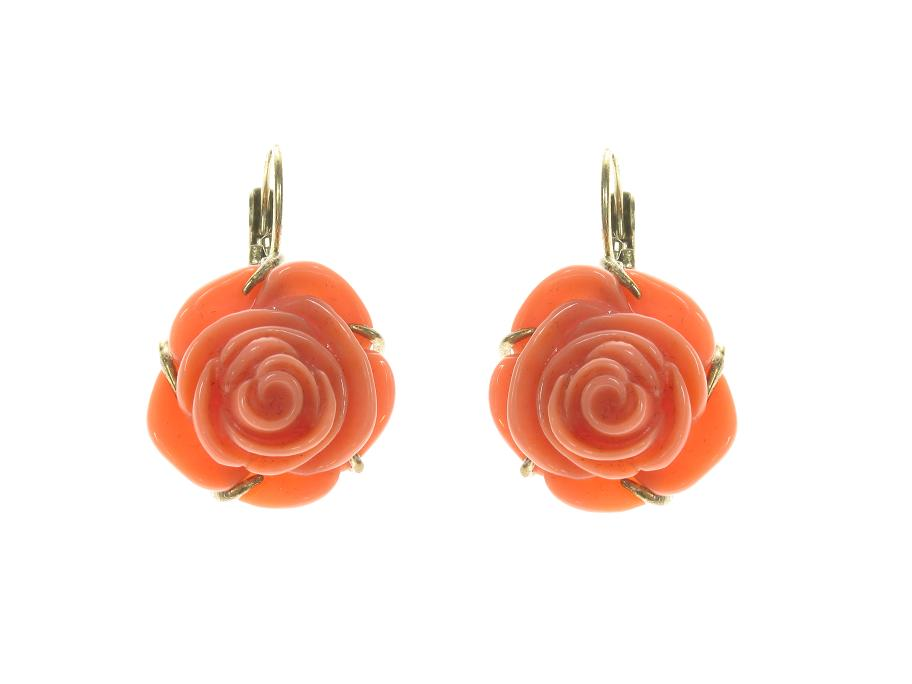 Bohm Floral Couture Rose Flower Earrings