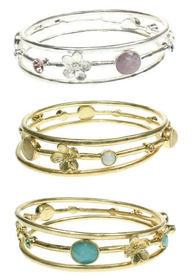 Bohm Graceful Geometrics 3 Bangle Set
