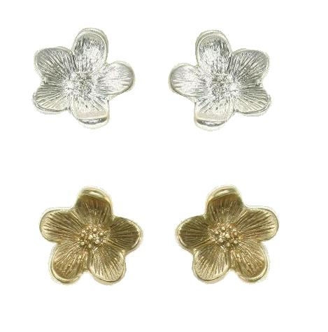 Bohm - Graceful Geometrics - Flower Stud Earrings BNWT