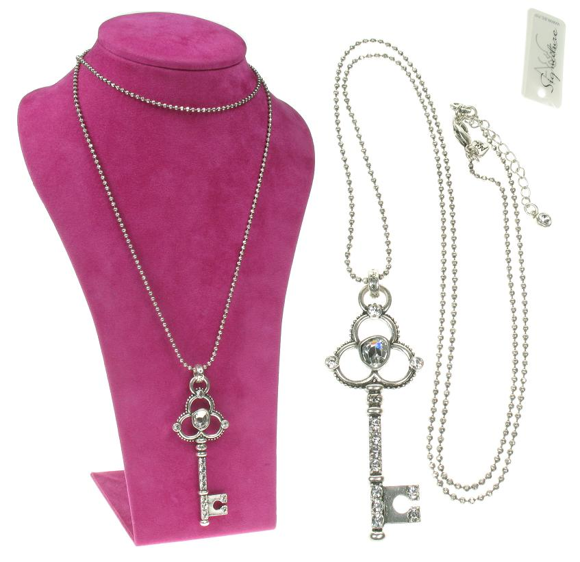 A & C Key To My Heart  Key Pendant Long Necklace