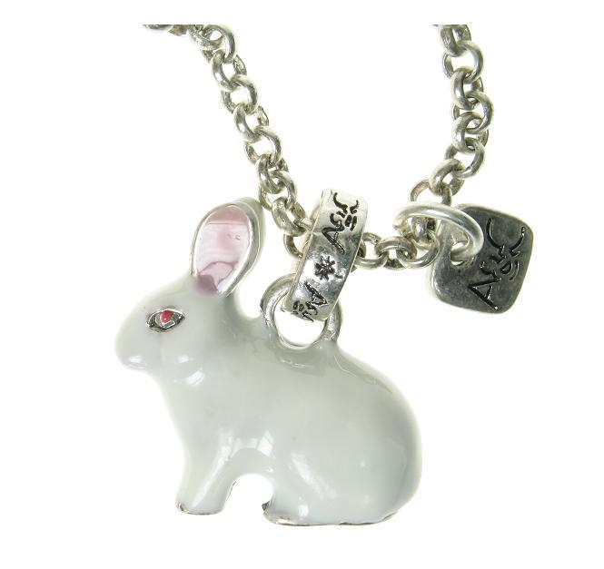 A & C White Rabbit Necklace