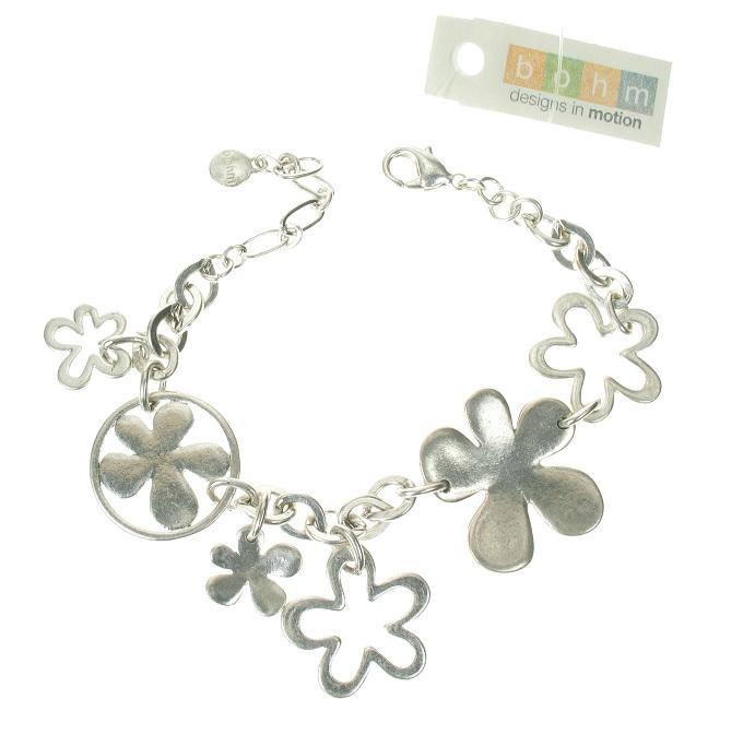 The Bohm Blossom Adjustable Bracelet - Silver Plate
