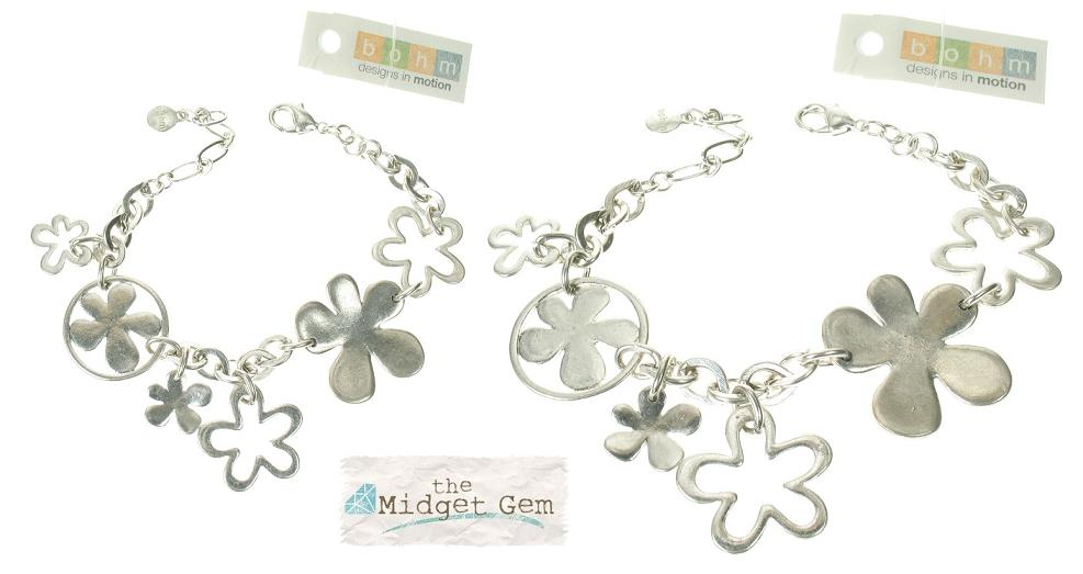 The Bohm Blossom Adjustable Bracelet - Silver Plate