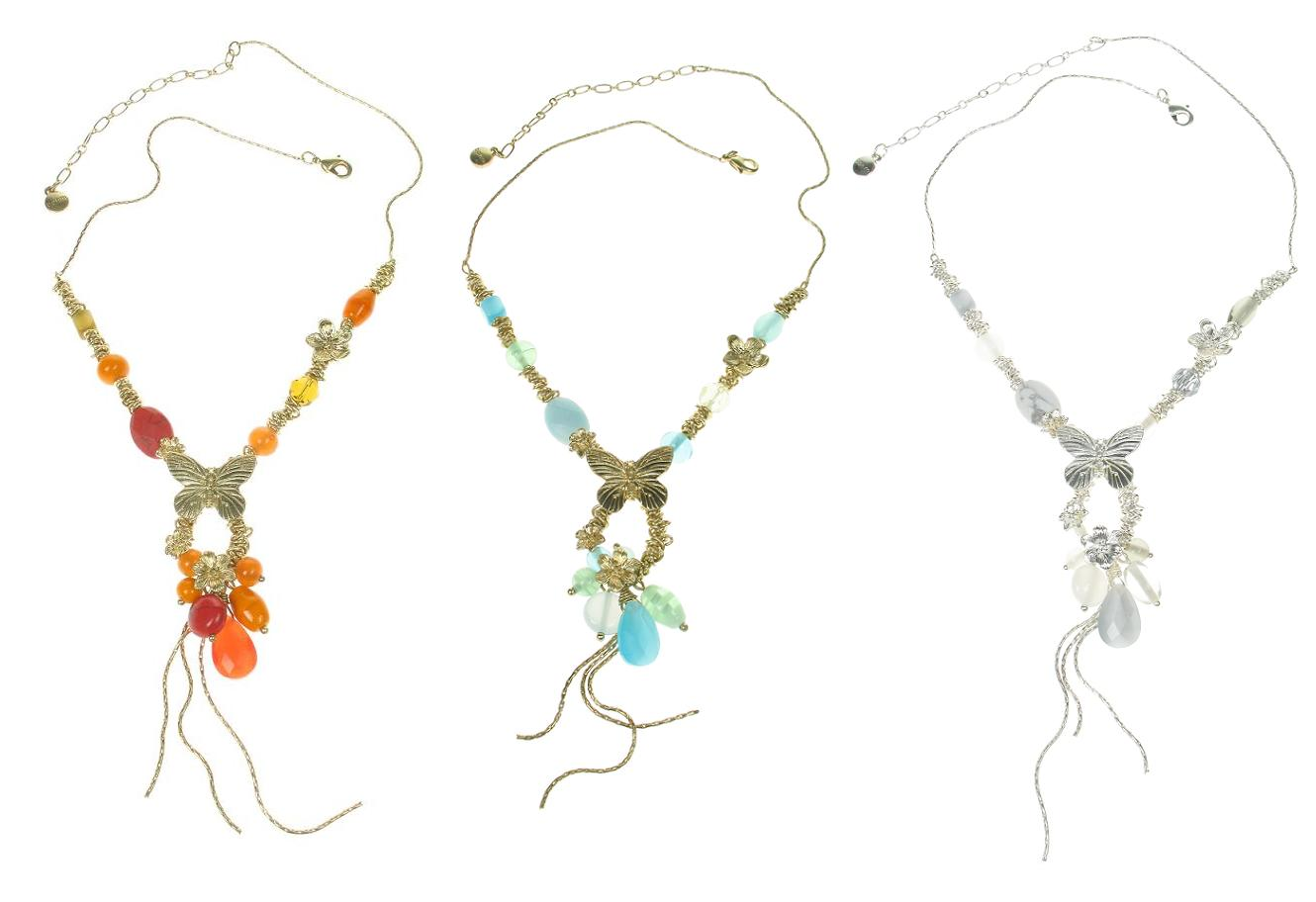 Bohm Butterfly Society Charm Cascade Necklace