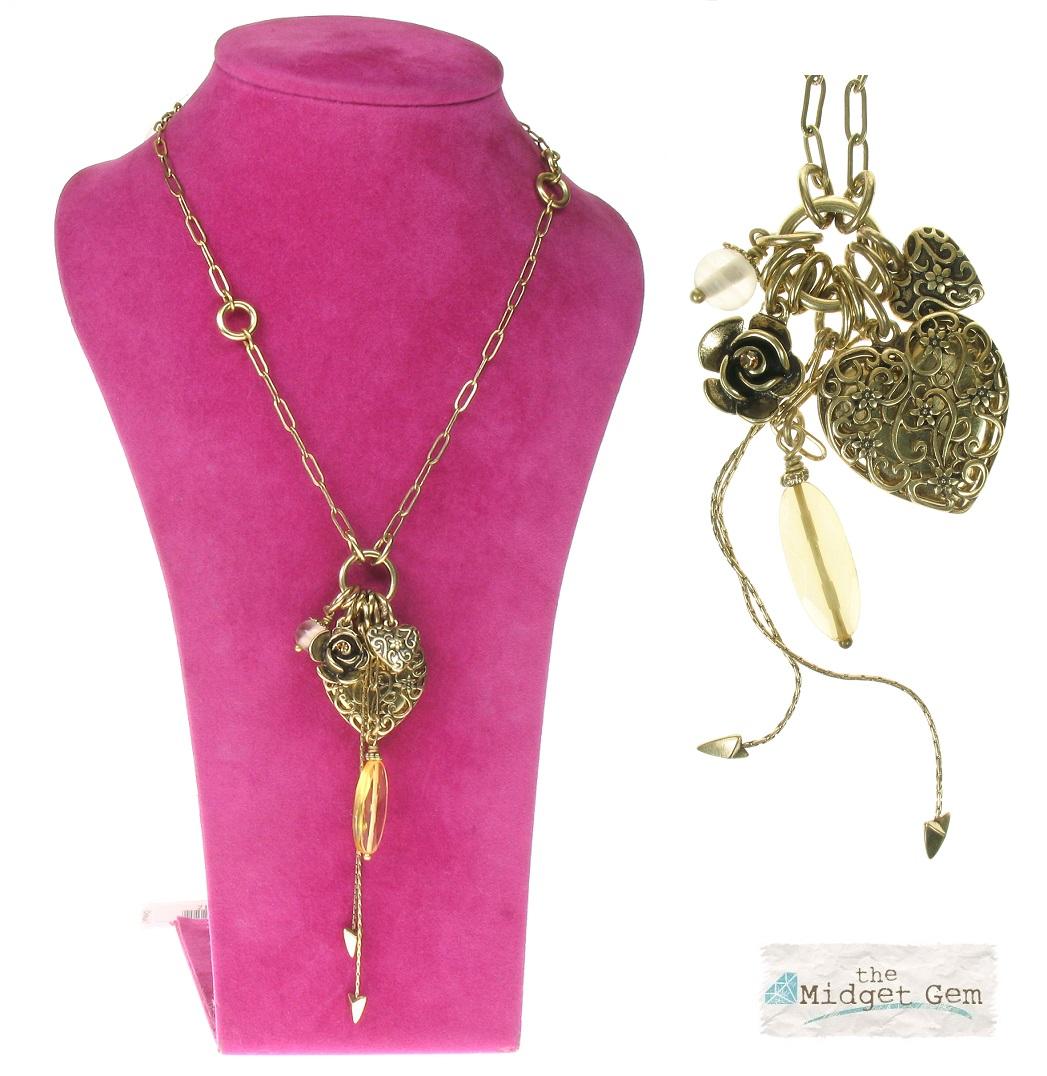 The Bohm - Summer Lovin' - Heart Locket - Long Necklace - Gold/Natural