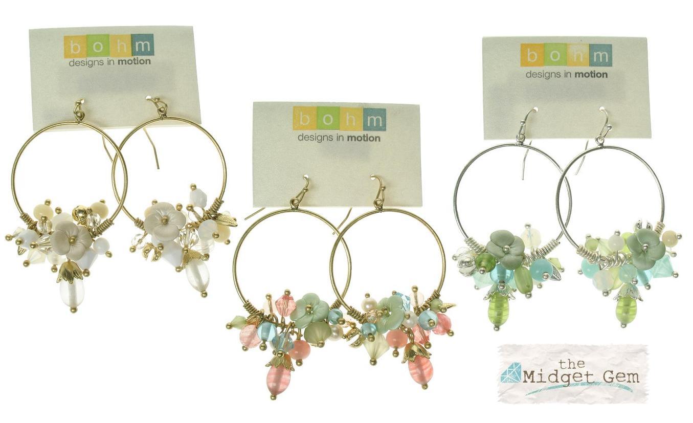 Bohm Flourescence Hoop Cluster Earrings
