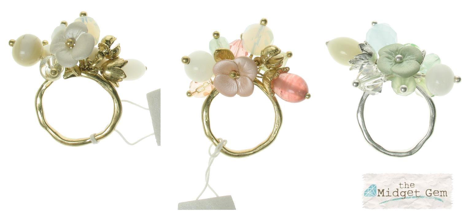 Bohm Flourescence Adjustable Cluster Ring