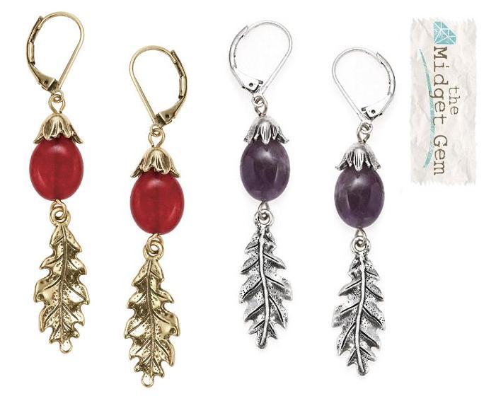 Bohm Autumn Woodland Oak Leaf Earrings