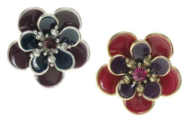 Bohm Autumn Woodland Flower Adjustable Ring