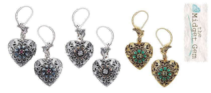 Bohm Bohemian Heart Locket Earrings