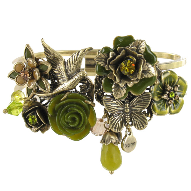 The Bohm - Flowers & Foliage - Hinged Cuff