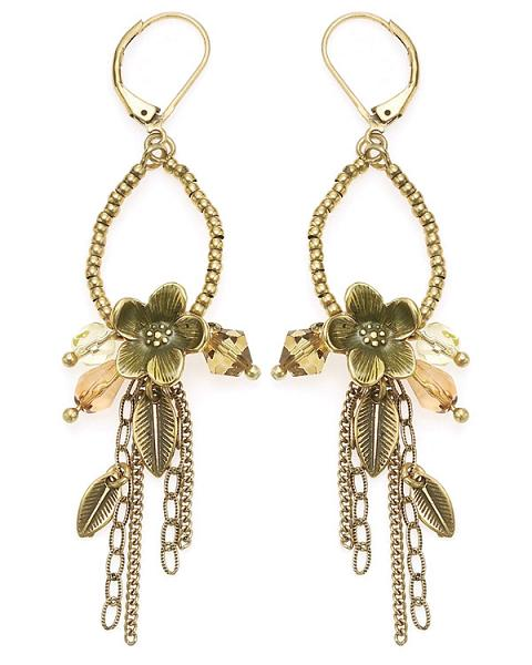 The Bohm - Flowers & Foliage - Dangly Flower Earrings