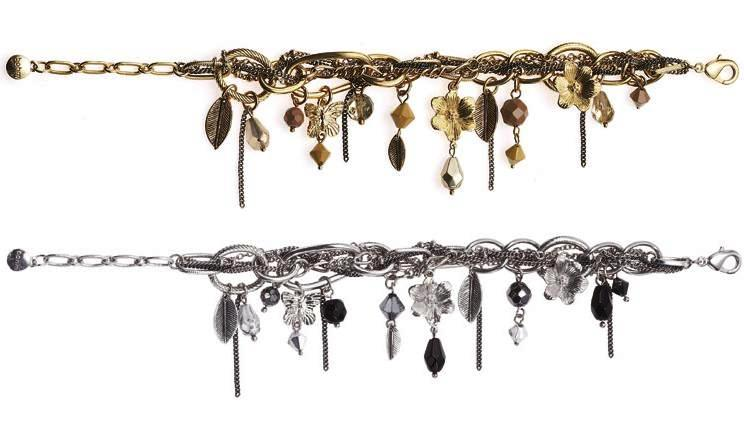 Bohm Multi Stranded In Chains Charm Bracelet