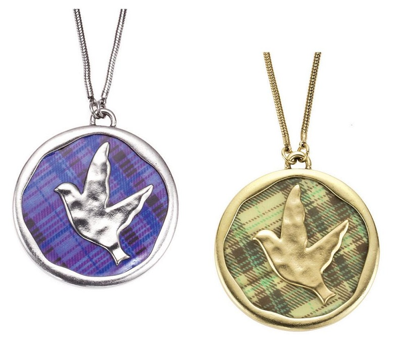 The Bohm - 'All That Plaid' - M.O.P Disc Pendant Necklace