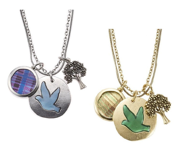 The Bohm - 'All That Plaid' - 3 Charm Necklace