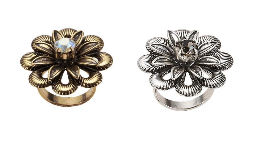 Bohm Vogue Adjustable Flower Ring