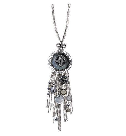 Bohm Victorian Ritz Cascade Pendant Long Necklace