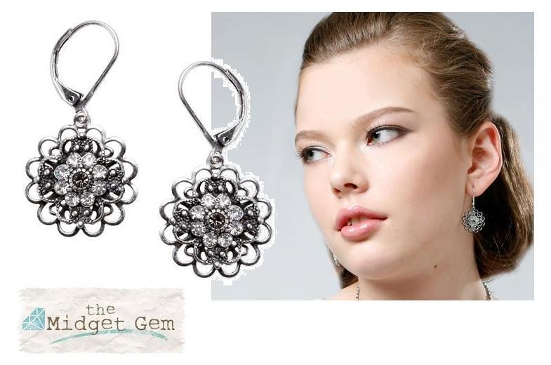 Bohm Victorian Ritz Filigree Flower Earrings