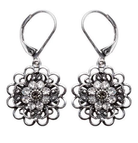 Bohm Victorian Ritz Filigree Flower Earrings