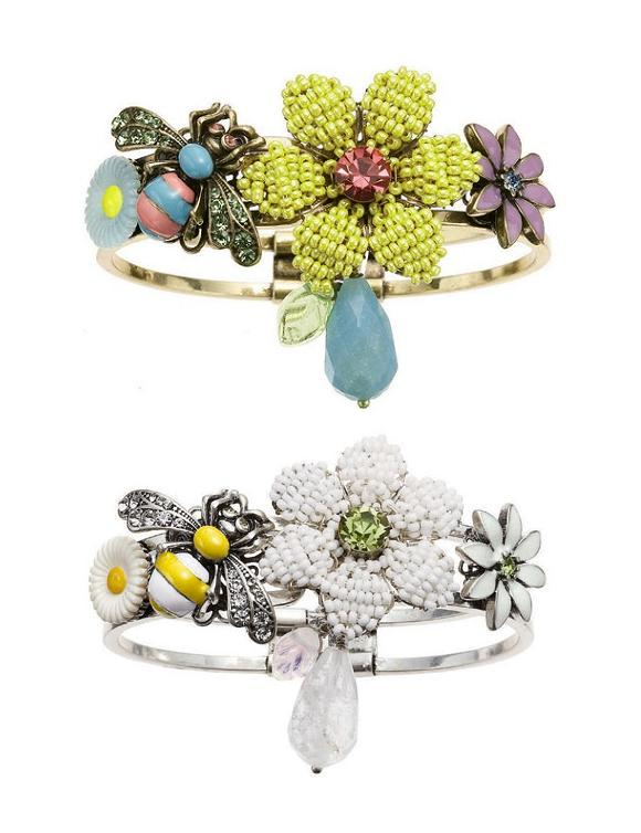 Bohm - Botanical Garden - Corsage Hinged Bangle BNWT