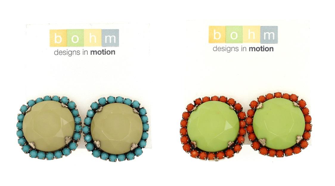 BOHM - California Dreamin' Clip-On Earrings BNWT