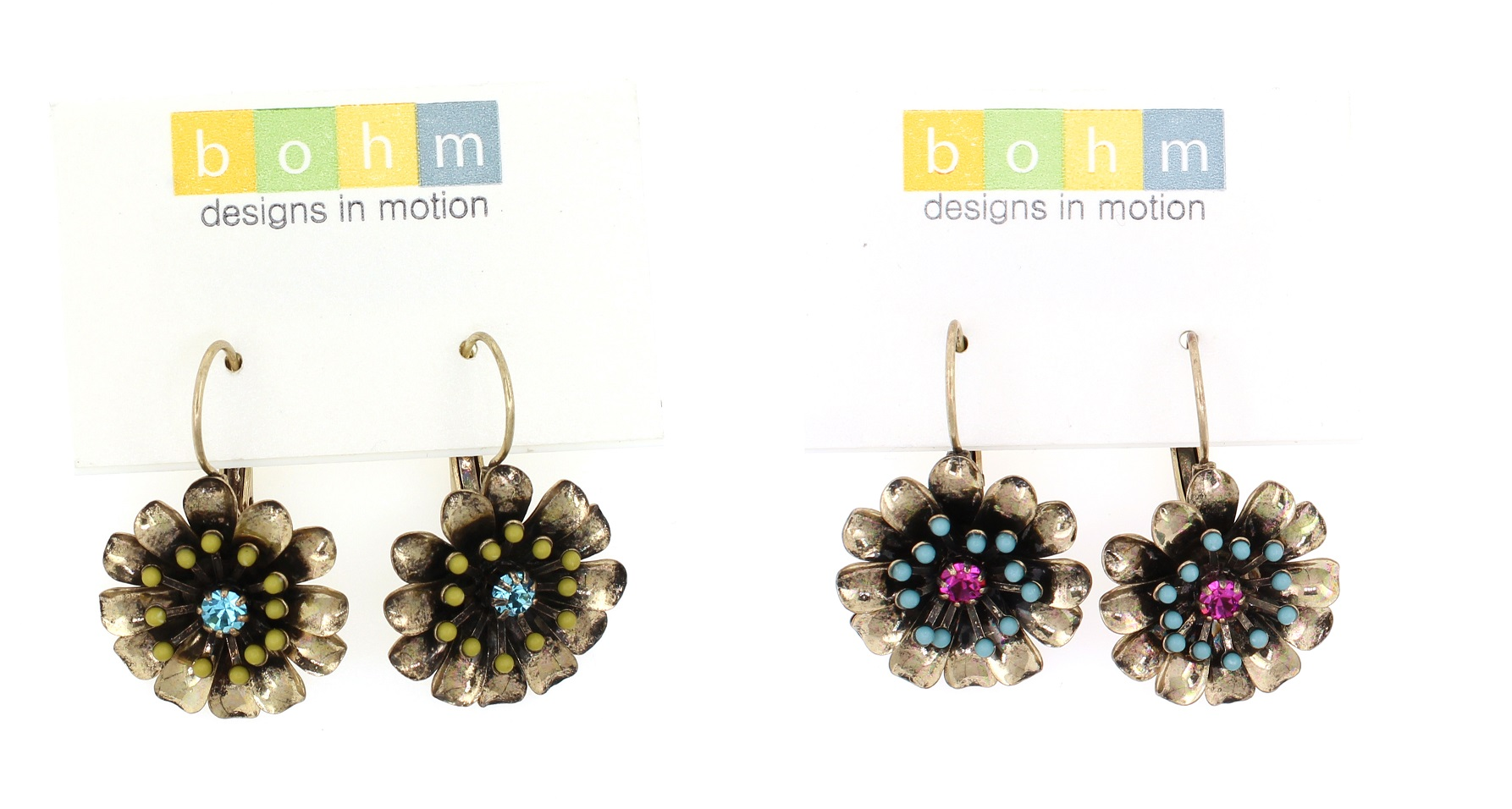 BOHM - California Dreamin' - Flower Drop Earrings BNWT