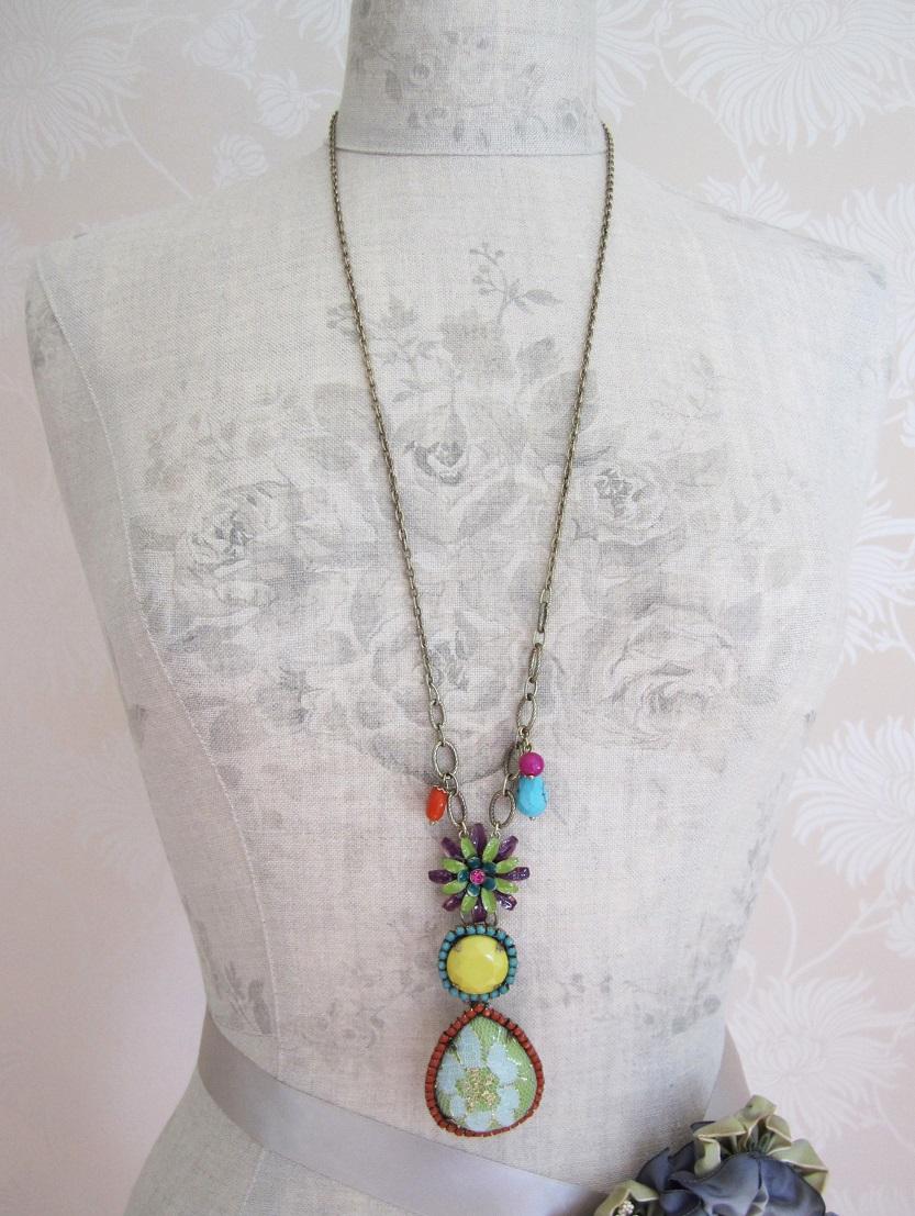 BOHM - California Dreamin' - Adjustable Long Necklace - Brights & Gold BNWT