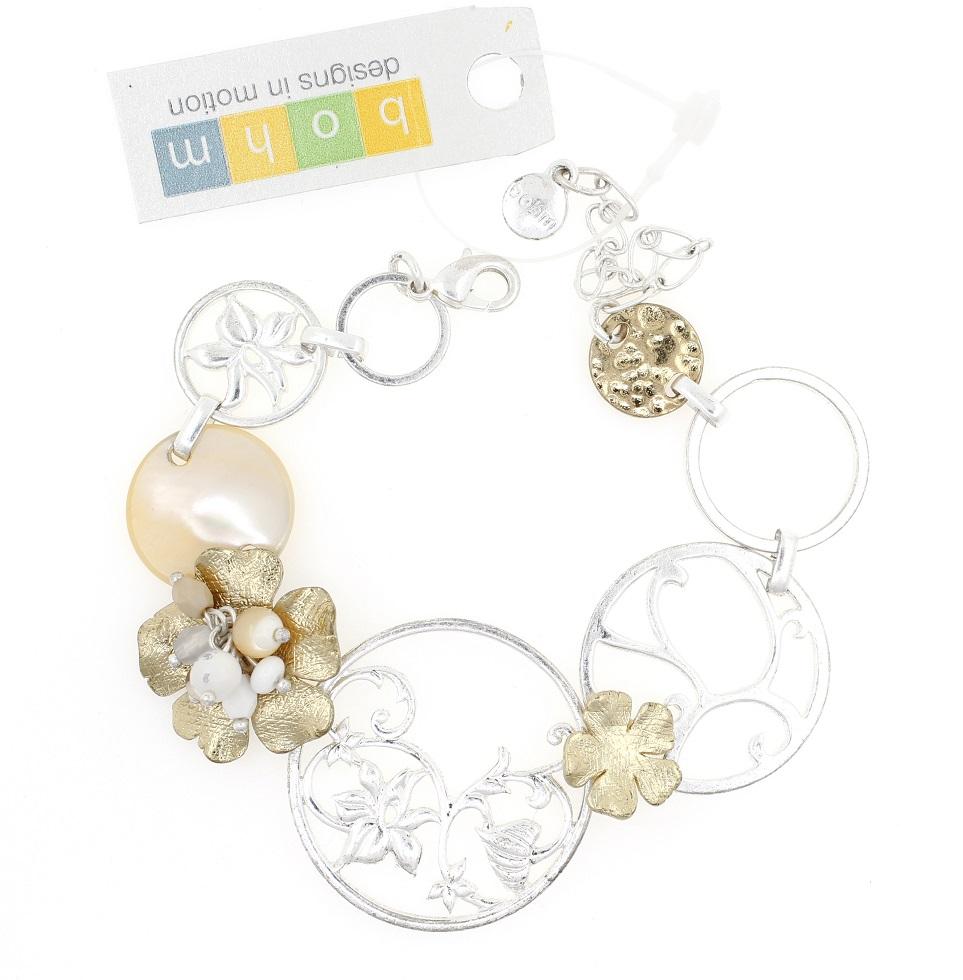 BOHM - Heirloom - Bracelet - Silver/Gold/White BNWT