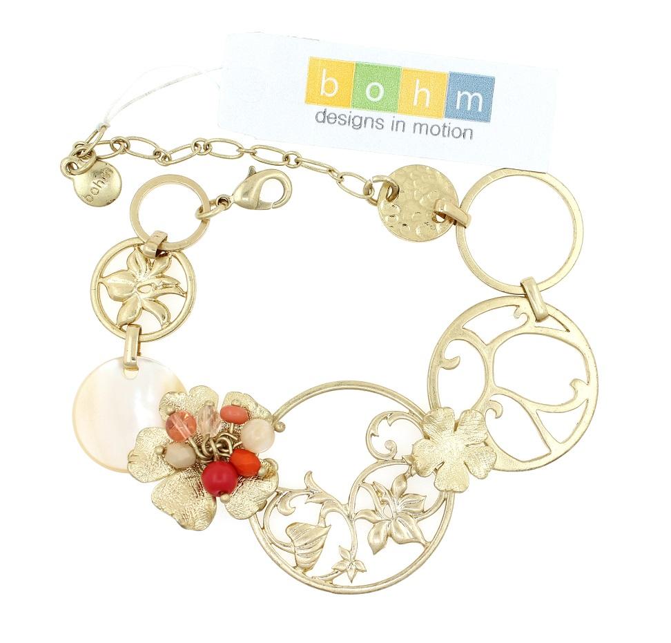 BOHM - Heirloom - Bracelet - Gold/Orange/Cream BNWT