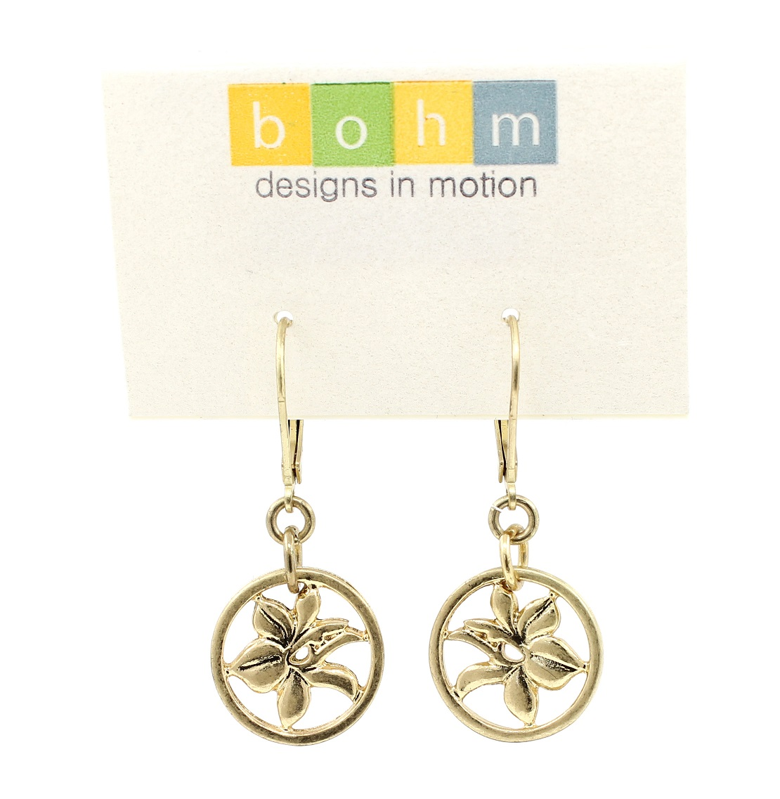 Bohm Floral Folklore - Orchid Silhouette Earrings - Gold Plate BNWT