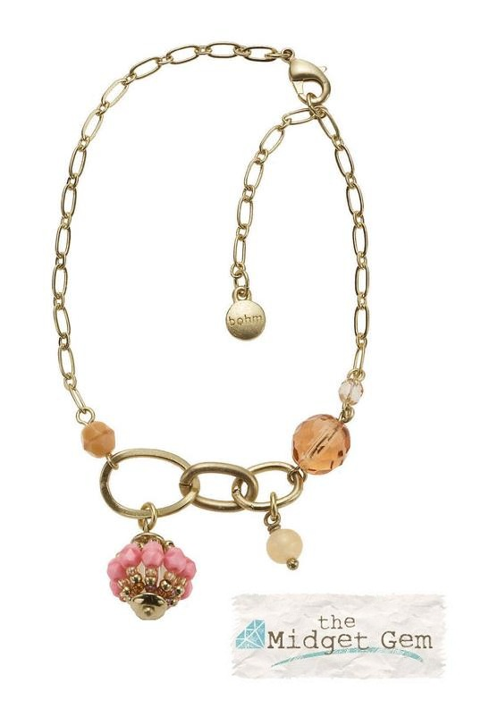 Bohm Floral Folklore Ankle Chain - Gold Plate/Peach