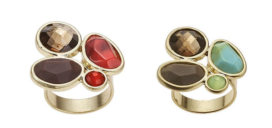 Sahara Jewel Trio Adjustable Ring - The Bohm