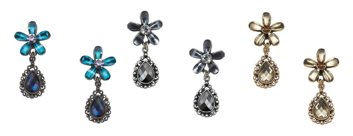 Bohm Vogue Flower Jewel Drop Earrings