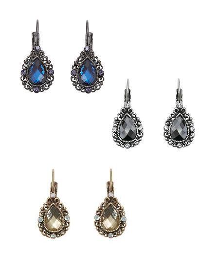 Bohm Vogue Jewel Tear Drop Earrings