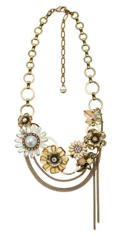 Bursts Of Brilliance Ornate Flower Necklace