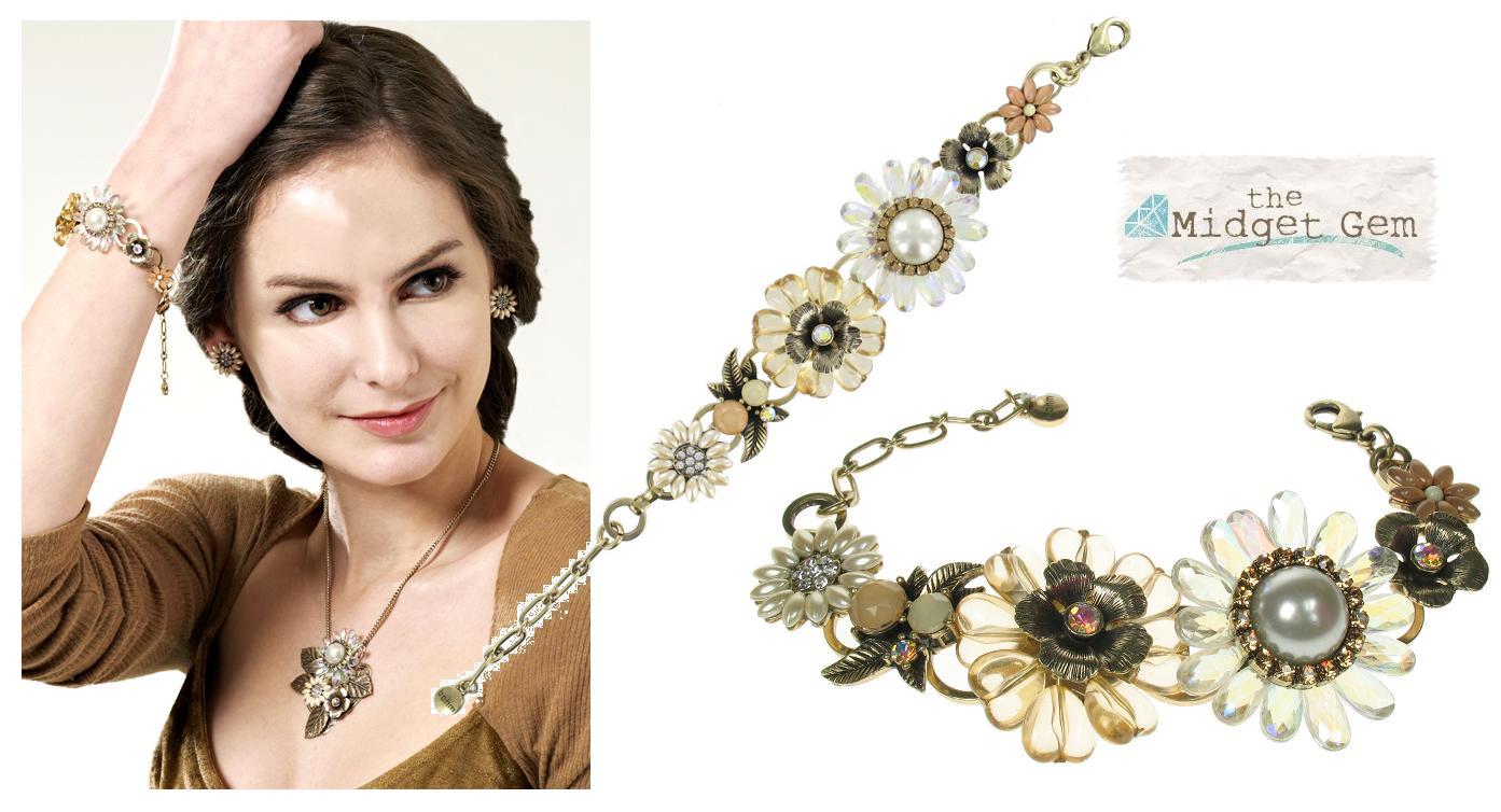 Bohm Bursts Of Brilliance Adjustable Flowers Bracelet
