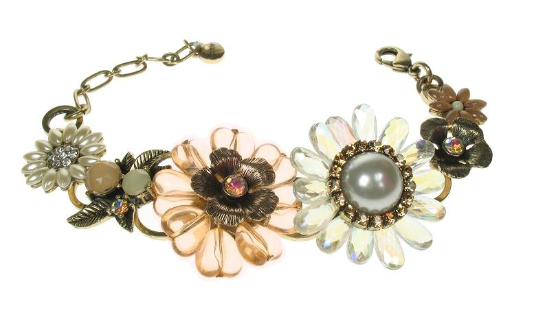 Bohm Bursts Of Brilliance Adjustable Flowers Bracelet