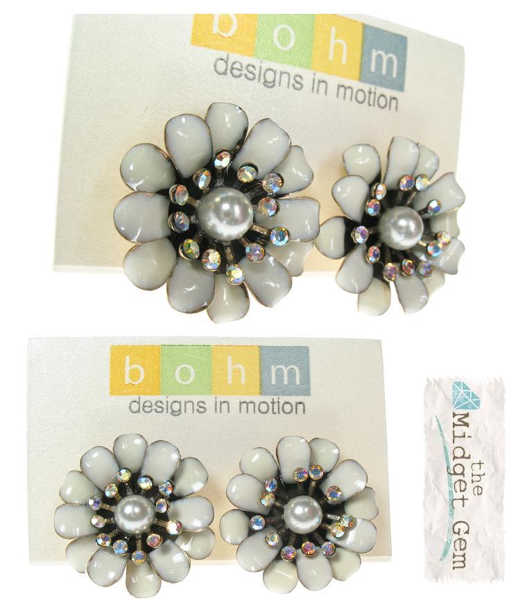 Bohm Bursts Of Brilliance Double Flower Earrings