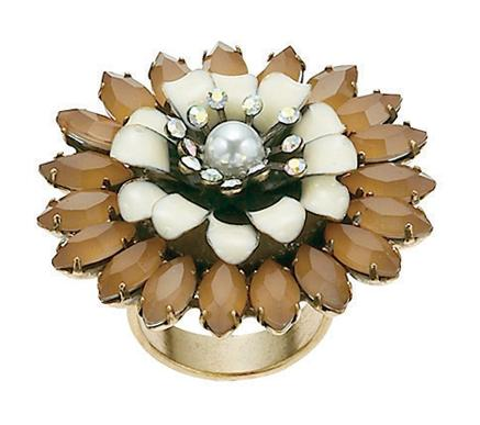 Bohm Bursts Of Brilliance Adjustable Flower Ring