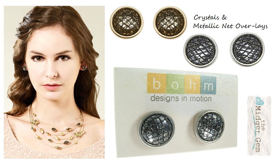 The Bohm Eternal Attraction Crystal Stud Earrings