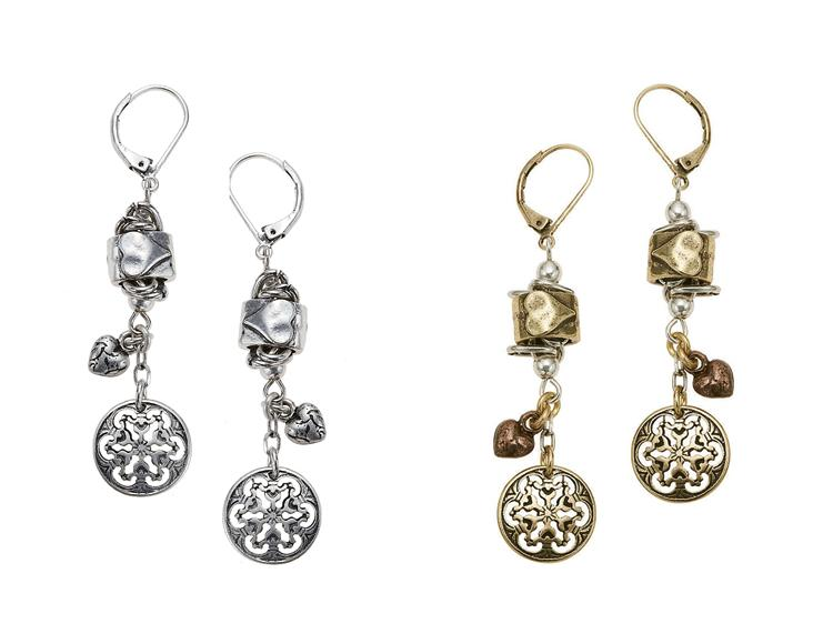 Bohm Timepiece Heart Drop Earrings