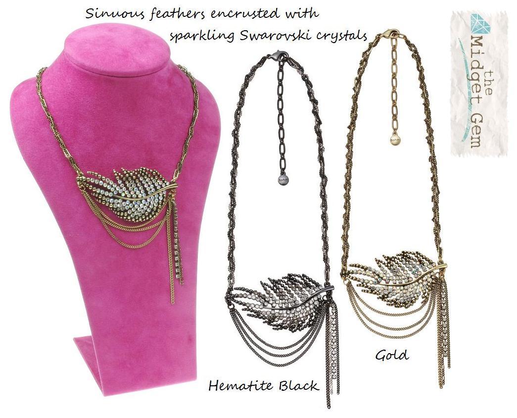 Bohm Ice Petals Sinuous Feather Necklace