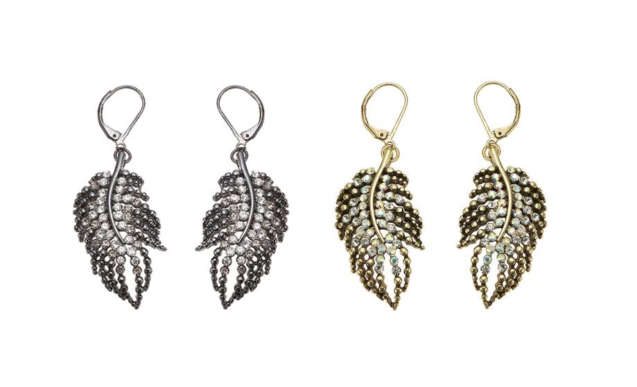 Bohm Ice Petals Sinuous Feather Earrings