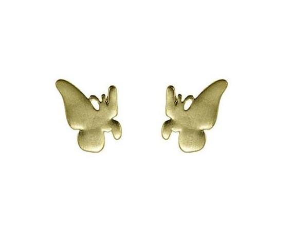 Delicate Trinkets Butterfly Stud Earrings - Satin Gold Plate