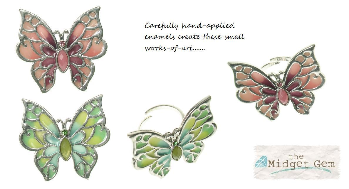 The Bohm Picturesque Adjustable Butterfly Ring